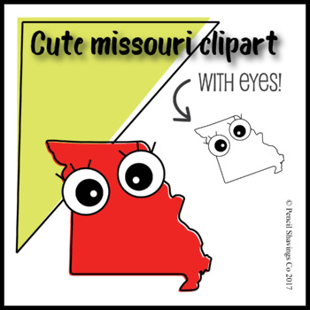 Cute Missouri Clipart with Eyes!