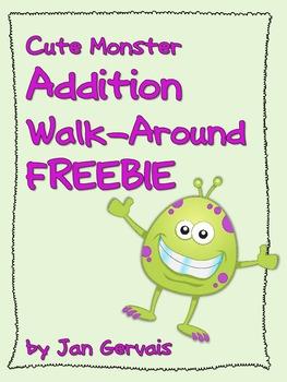 Cute Monster Addition Walk-Around FREEBIE