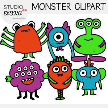 Cute Monster Clipart - Studio ELSKA