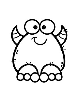 Cute Monster Color Vocabulary Posters / Word Wall & Coloring Page