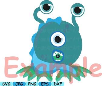 Cute Monster Elien Clip Art DIY Birthday community animals Dinosaur Props -159s