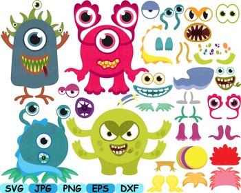 Cute Monster Elien Clip Art DIY Birthday community animals