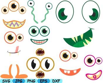 Cute Monster Elien Clip Art DIY Birthday community animals Dinosaur Props -160s