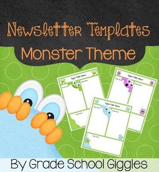 Newsletter Template - Editable Monster Theme