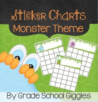 Sticker Charts - Monster Theme