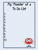 Cute Monster To Do Lists