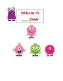 Cute Monster Welcome Sign