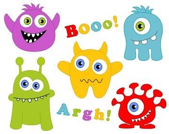 Cute Monsters Clip Art