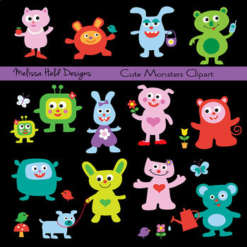 Clipart: Cute Monsters  Clip Art