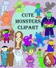 Monsters, Halloween Clipart