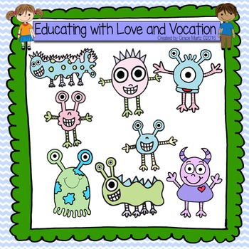 Cute Monsters Cliparts