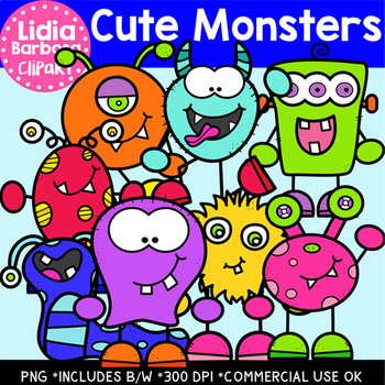 Cute Monsters- Halloween Clipart