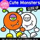 Cute Monsters- Halloween Clipart