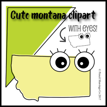 Cute Montana Clipart with Eyes!