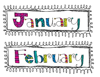 Cute Months of the Year