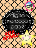 Cute Moroccan Digital Paper and Spines! Editable!!!