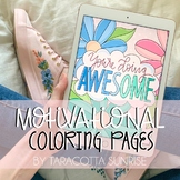 Cute Motivational, Inspirational Coloring Pages by Taracot