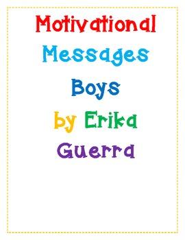 Cute Motivational Messages Boys