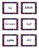 Cute Multicolored Polka Dot Primer Dolch Flashcards