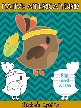 Cute Native American Bird with Corn - Jackie's Crafts Activity, Thanksgiving
