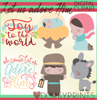 Cute Nativity Christmas Clipart