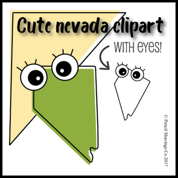 Cute Nevada Clipart with Eyes!
