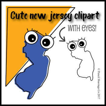 Cute New Jersey Clipart with Eyes!