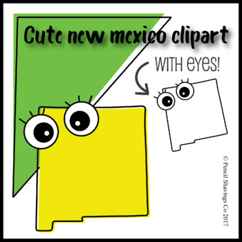 Cute New Mexico Clipart with Eyes!
