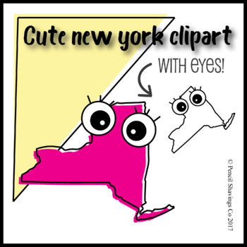 Cute New York Clipart with eyes!