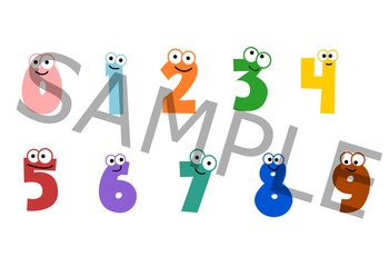 Cute Number Clipart