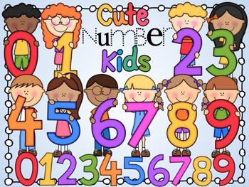 Cute Number Kids