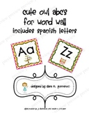 Cute OWL ABCs for Word Wall in Spanish