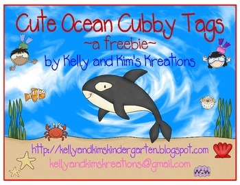 Cute Ocean Cubby Tags ~a freebie~