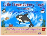 Cute Ocean Cubby Tags ~a freebie~