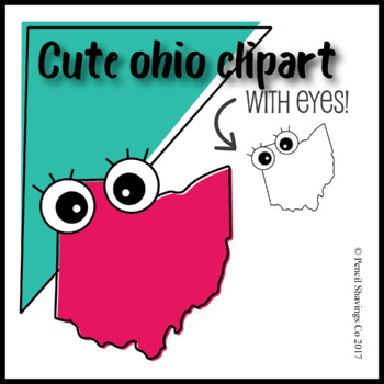 Cute Ohio Clipart with Eyes!