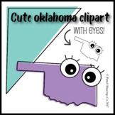 Cute Oklahoma Clipart with Eyes!