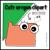 Cute Oregon Clipart with Eyes!
