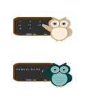 Cute Owl Clip Art (Pink, Blue, Purple, Grey, Beige and Teal)