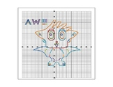 Cute Owl Coordinate Graphing Picture in 4 Quadrants and Gr