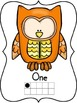 Cute Owl Number Posters