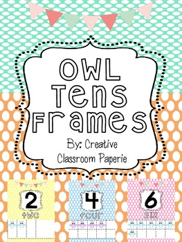 Cute Owl Tens Frames Posters