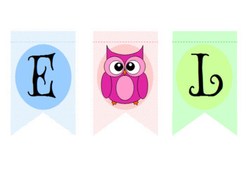 Cute Owl Welcome Banner