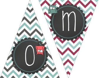 Cute Owl Welcome Bunting Banner