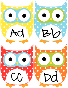 Cute Owl Word Wall