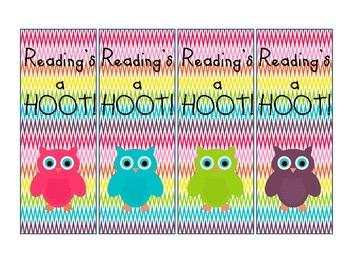 Cute Owl bookmarks
