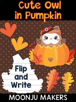 Cute Pilgrim Owl in Pumpkin  - Moonju Makers - Thanksgiving Activity