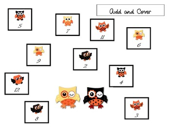Cute Owl or Halloween Roll and Cover Game