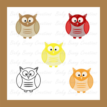 Owls Clip Art Clipart Animal Bird Science Nature
