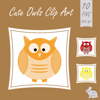 Owls Clip Art Clipart Animal Bird Science Nature