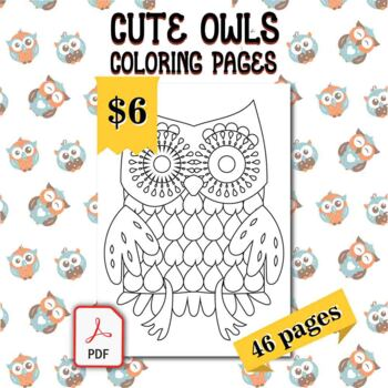 Owl Coloring Page Worksheets Teaching Resources Tpt